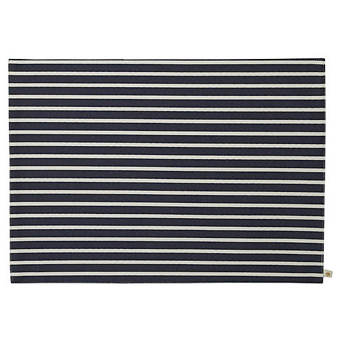 S/4 Harbour Drive Place Mats, Navy/White
