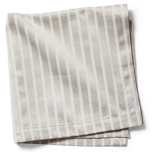 S/4 Harbour Drive Dinner Napkins, Platinum