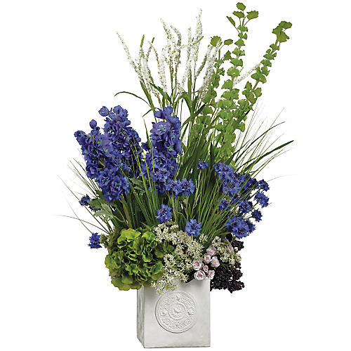 "42"" Delphinium & Bells Arrangement, Faux"