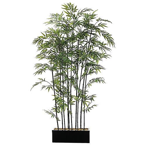 """84"""" Bamboo Stalk Wall Divider, Faux"""