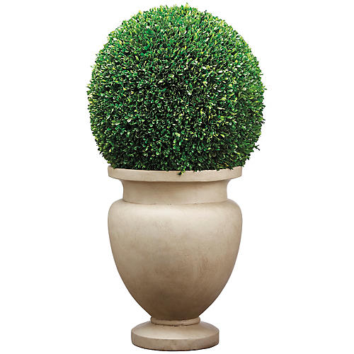 """45"""" Boxwood Ball Tall Topiary, Faux"""