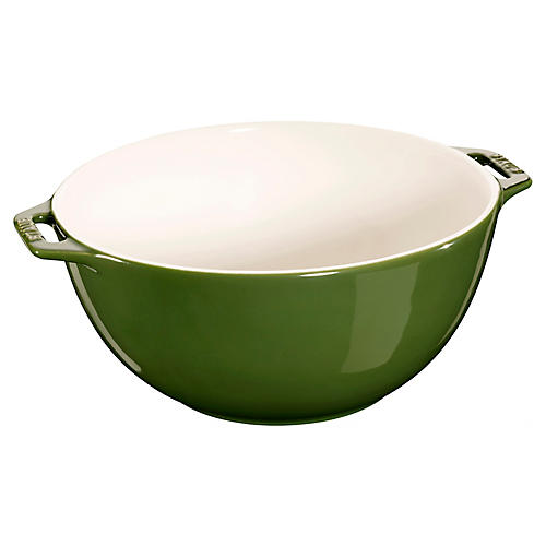 Ceramic Serving Bowl, Basil