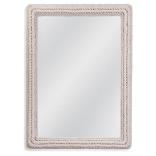 Juno Rectangular Wall Mirror, White