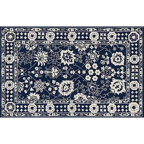 Gwyneth Outdoor Rug, Navy
