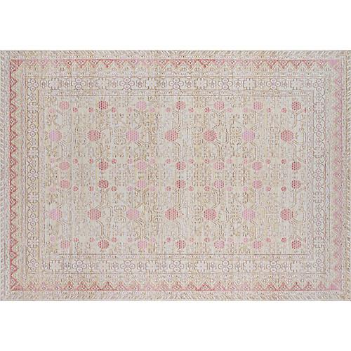 Isabella Rug, Ivory/Pink