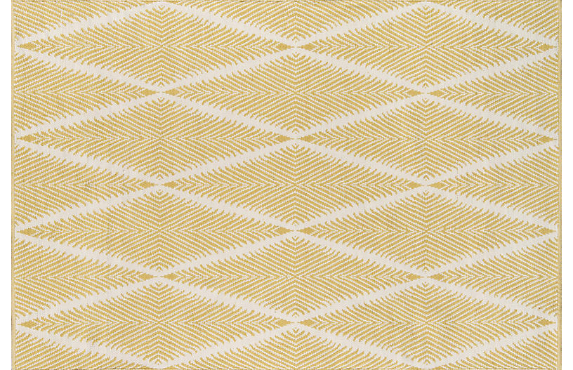 Beacon Outdoor Rug, Citron