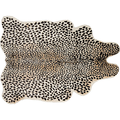 5'x8' Acadia Cheetah Faux-Hide Rug, Brown/Multi