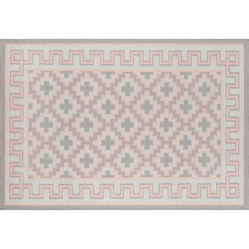 Brookline Rug, Pink/Gray
