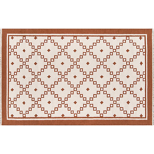 Thompson Langley Rug, Rust