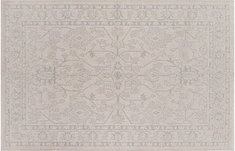 Boothbay Outdoor Rug, Gray