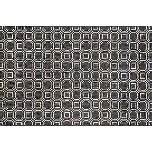 Downeast Camden Outdoor Rug, Charcoal