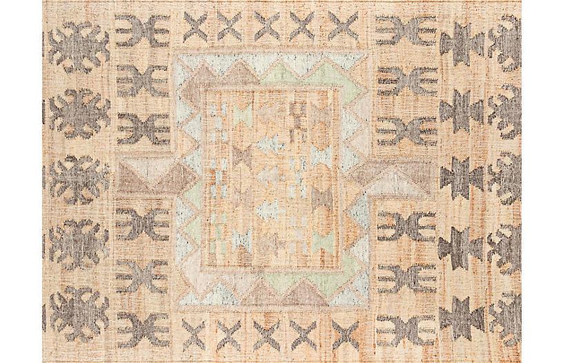 Gurara Naoni Handwoven Rug, Natural