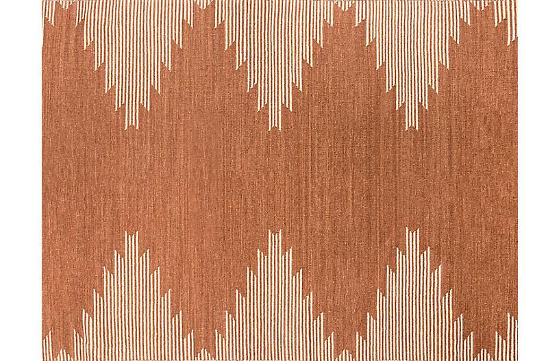 Metlili Missira Handwoven Rug, Terracotta