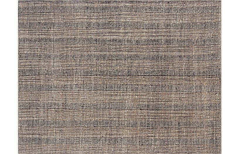 Moghar Kaffrine Handwoven Rug, Charcoal
