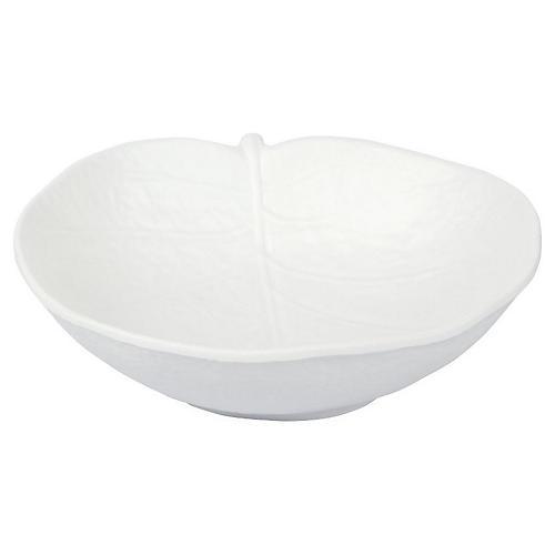Leaf Melamine Bowl, White