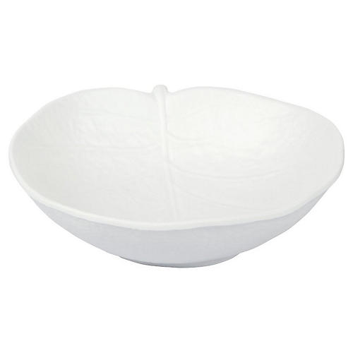 Leaf Melamine Bowl, White