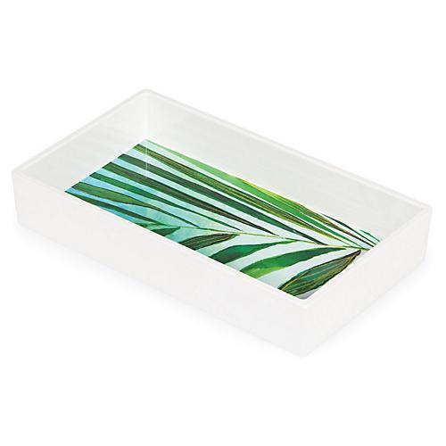 Palm Napkin Tray, Green/White