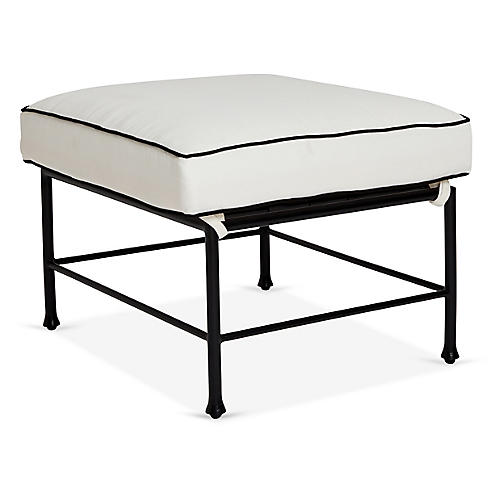 Frances Ottoman, White/Black