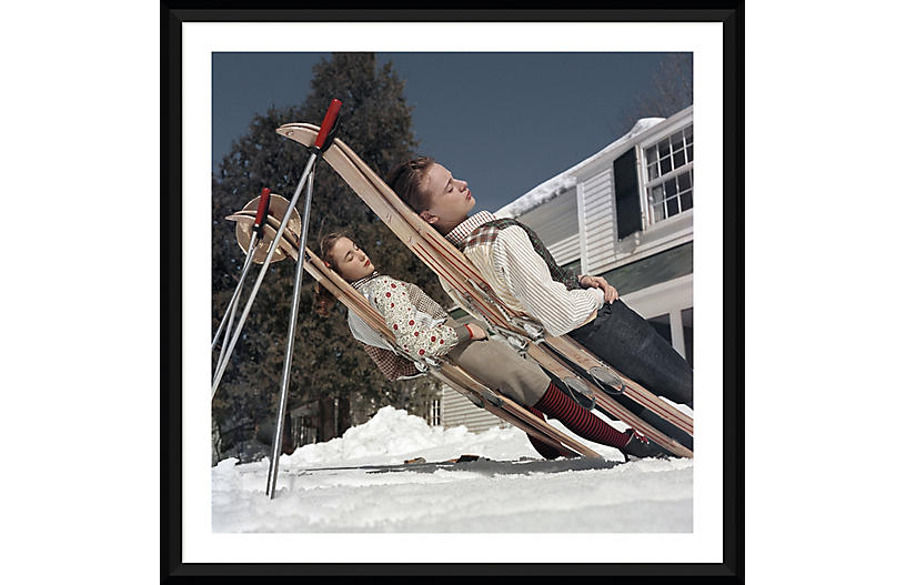 Slim Aarons, Skiing Cranmore Mountain