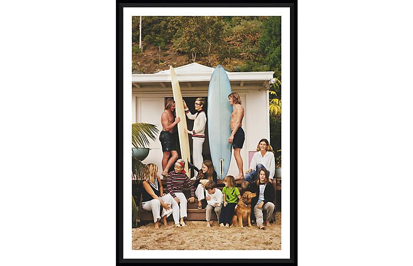 Slim Aarons, Surfing in Laguna Beach
