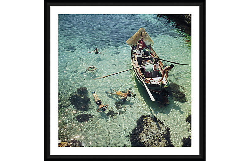 Slim Aarons, Snorkeling in the Shallows I