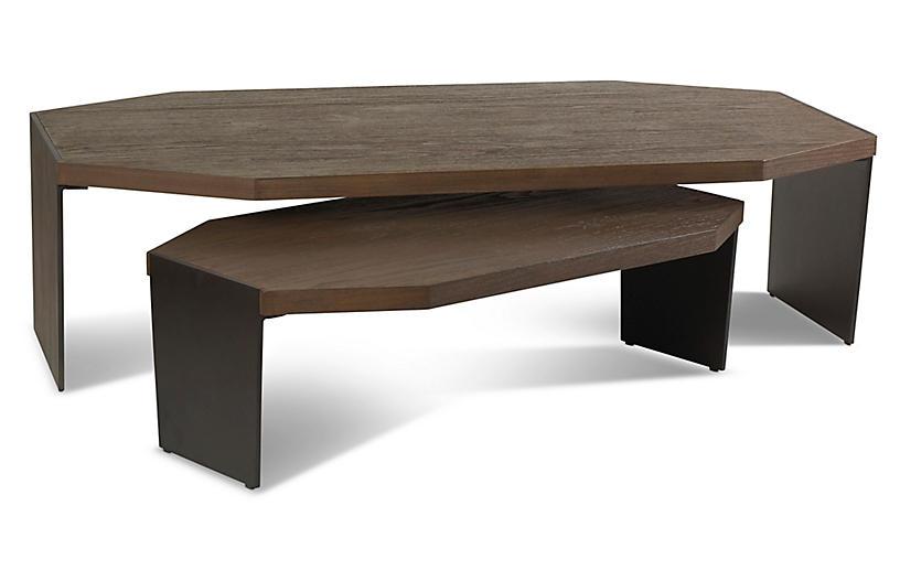 Jasper Nesting Coffee Tables, Nutmeg/Black