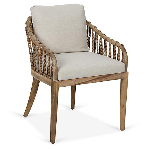 Tulum Armchair, Natural Crypton