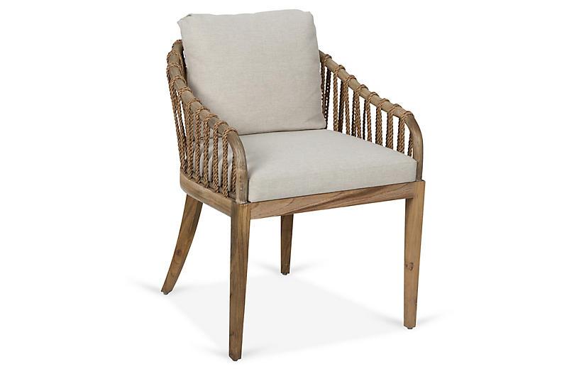 Tulum Armchair, Natural Crypton