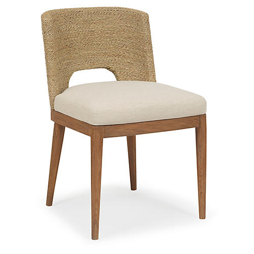 Amalfi Side Chair, Praline/Ivory Crypton