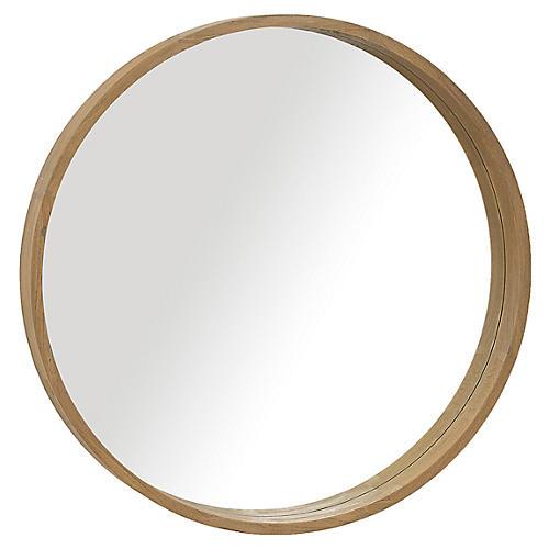 Capri Round Mirror, Teak