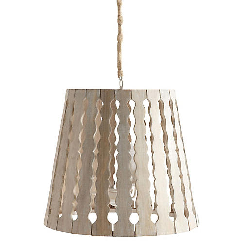 Adair Pendant, Natural/Whitewash