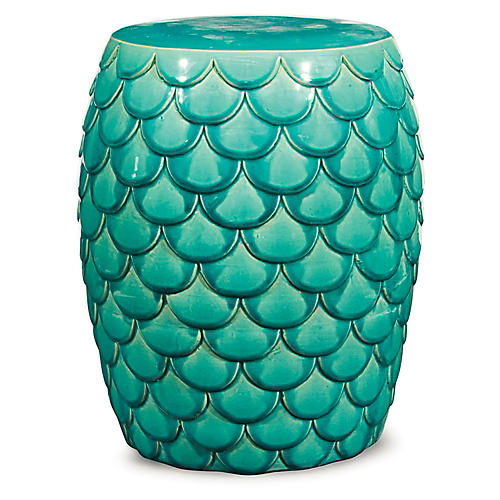 Gillian Garden Stool, Emerald Green