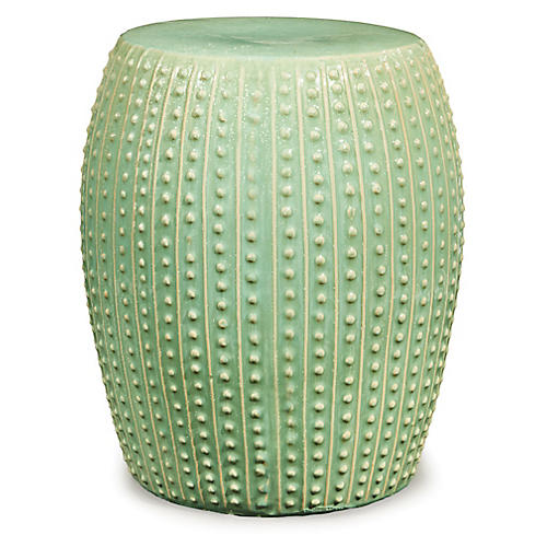Andros Garden Stool, Sea Green