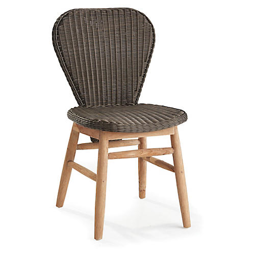All-Weather Side Chair, Espresso/Natural