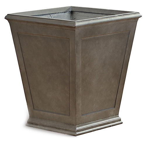 Xavier Outdoor Planter, Slate Gray