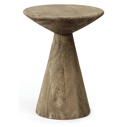 Harper Side Table, Rustic Gray