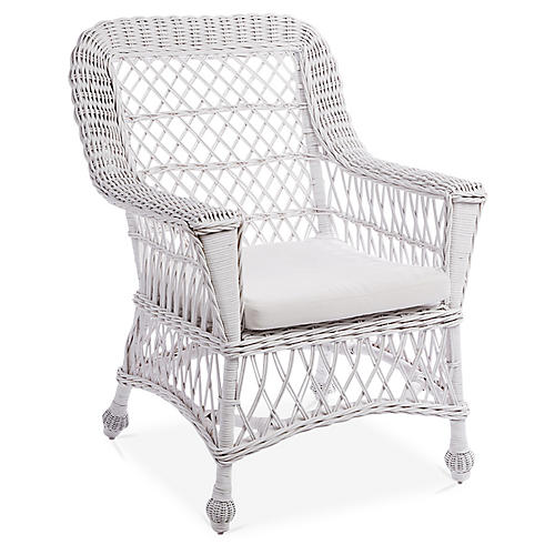 Montauk Accent Chair, White