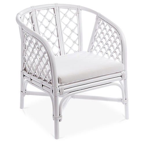 Malibu Accent Chair, White