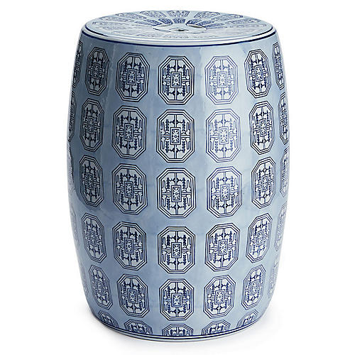 Dynasty Garden Stool, Blue/White