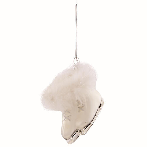 Ice Skates Ornament, White/Silver