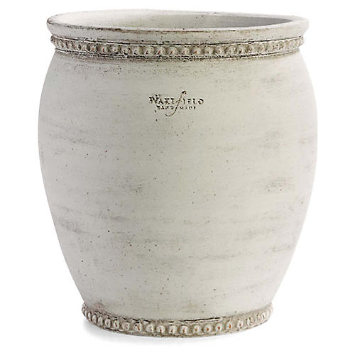 "10"" Giles Outdoor Planter, White Ash"