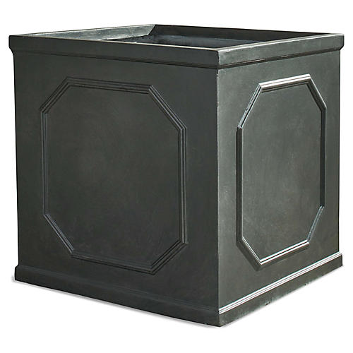 Celestine Outdoor Planter, Slate Gray