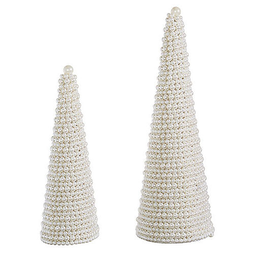 Posh Decorative Trees, Pearl