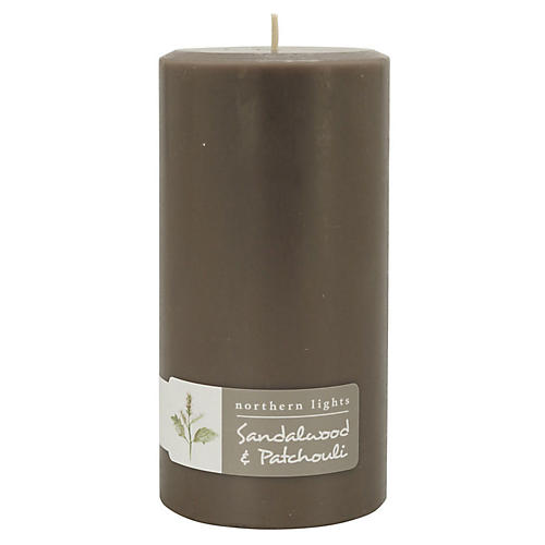 Palette Tall Pillar Candle, Sandalwood & Patchouli