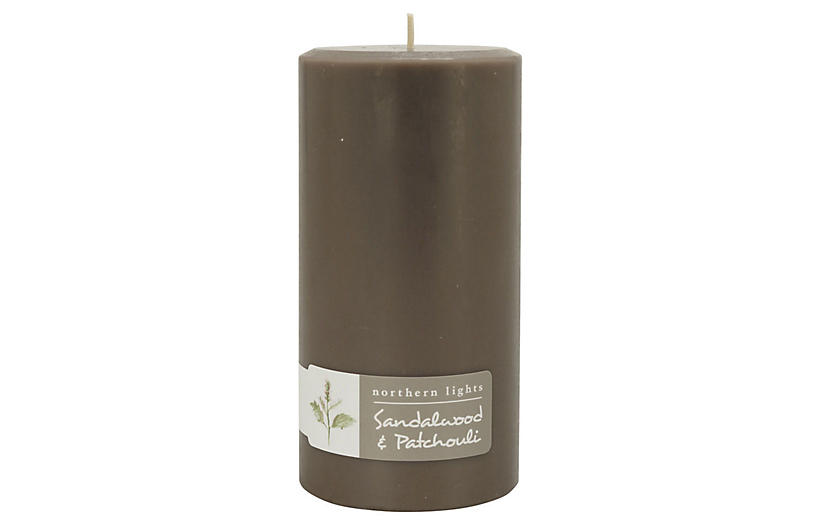 Palette Tall Pillar Candle, Sandalwood & Patchouli