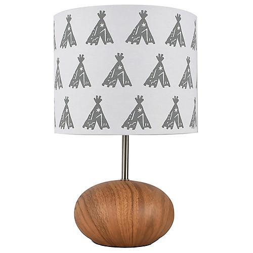 Kia Table Lamp, Brown