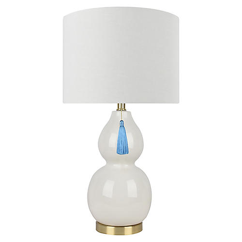 Corinne Table Lamp, Ivory
