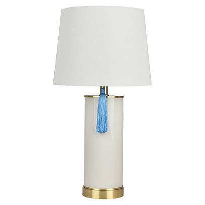 Halley Table Lamp, Ivory