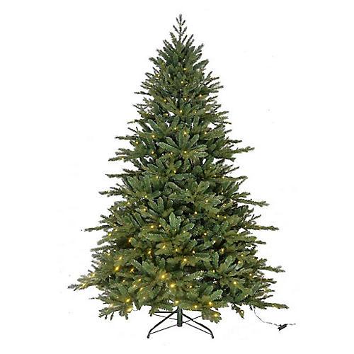 Classic LED-Lit Faux Tree, Green