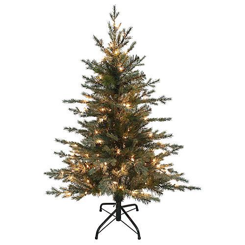 Pre-Lit Pine Tree, Faux